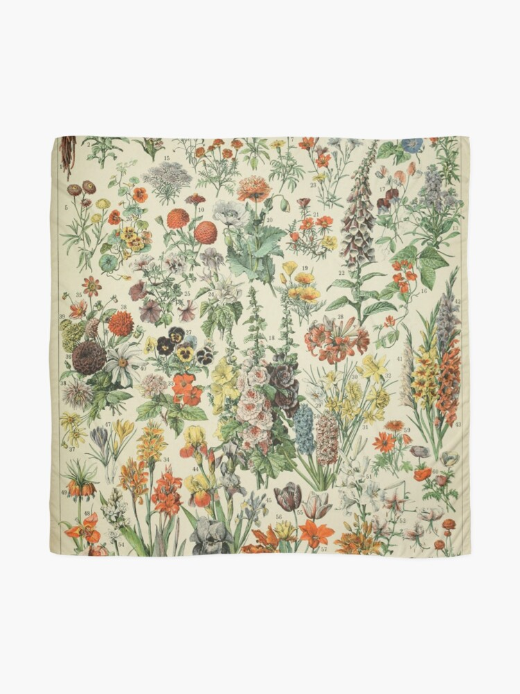 Alternate view of Adolphe Millot Fleurs A Scarf