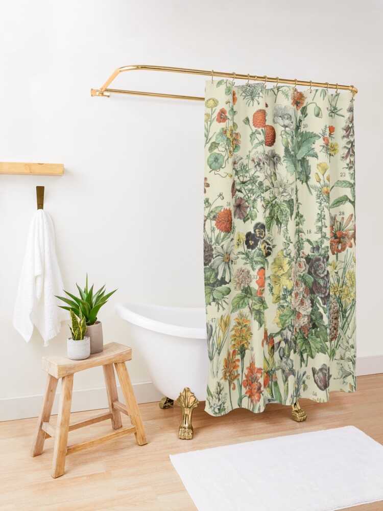 Alternate view of Adolphe Millot Fleurs A Shower Curtain