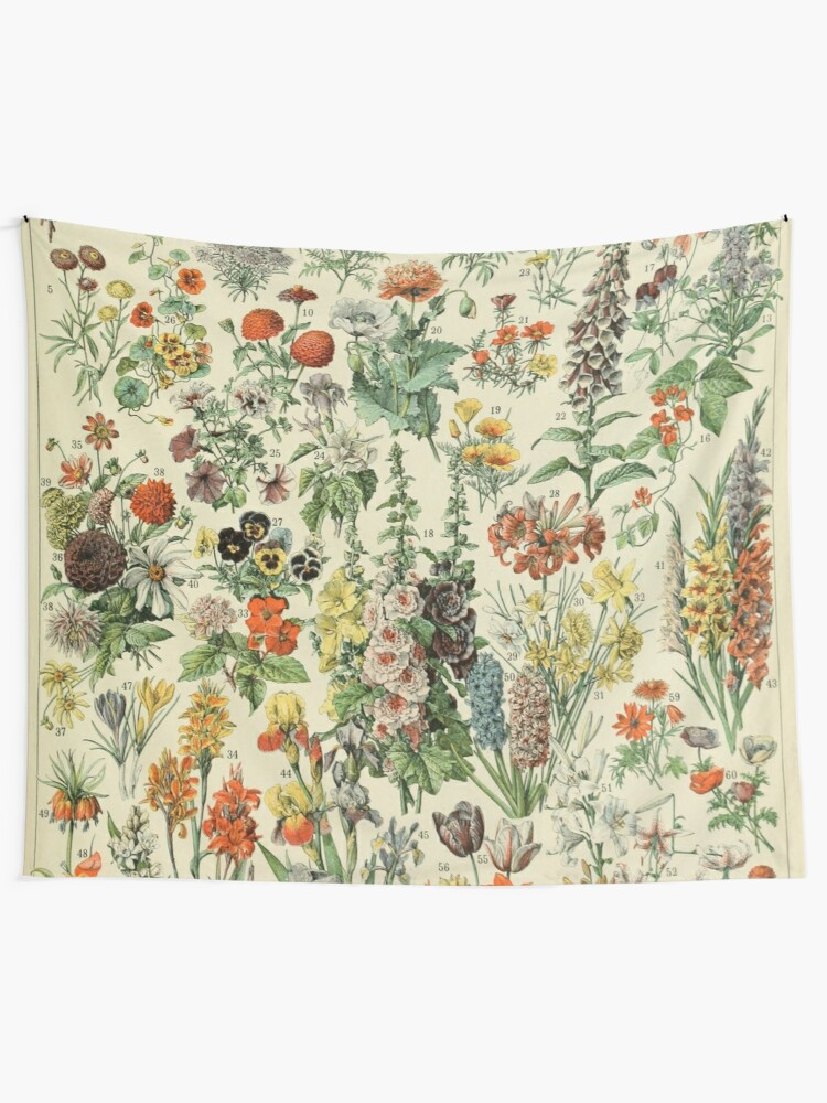 Alternate view of Adolphe Millot Fleurs A Tapestry