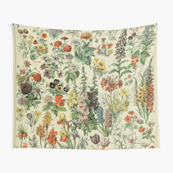 Adolphe Millot Fleurs A Tapestry
