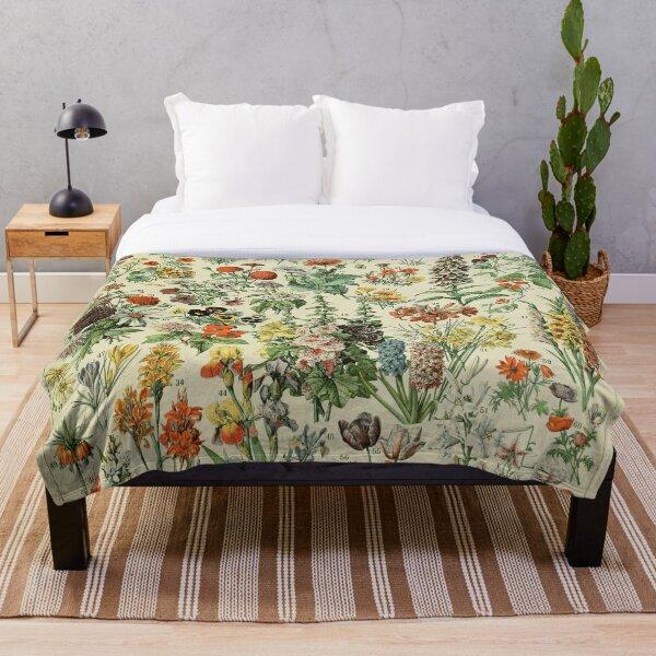 Adolphe Millot Fleurs A Throw Blanket