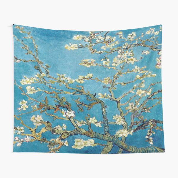 Vincent Van Gogh Almond Blossoms Painting Tapestry