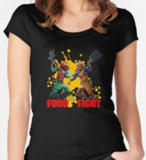 Food Battle Women's Fitted Scoop T-Shirt