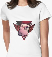 When pigs fly! Women's Fitted T-Shirt