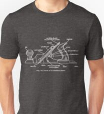 Woodworking Plane Technical Drawing Slim Fit T-Shirt
