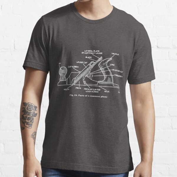 Woodworking Plane Technical Drawing Essential T-Shirt
