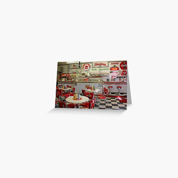 Twisters Soda Fountain Greeting Card