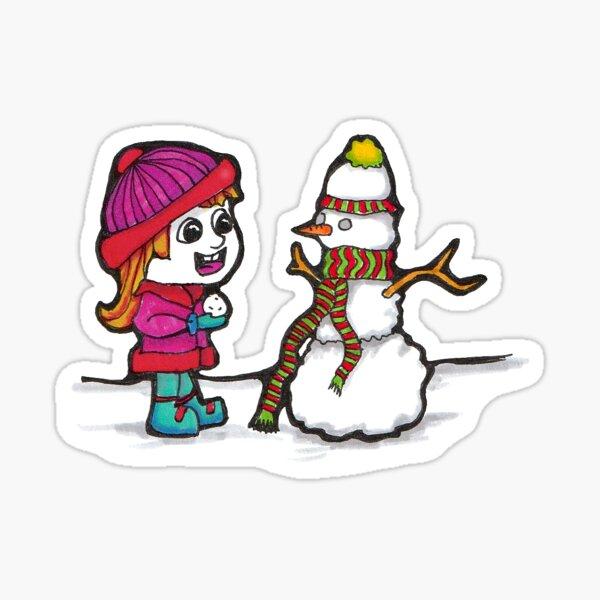 Building a Snowman Sticker