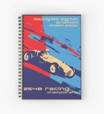 post futurist communist racing poster Spiral Notebook
