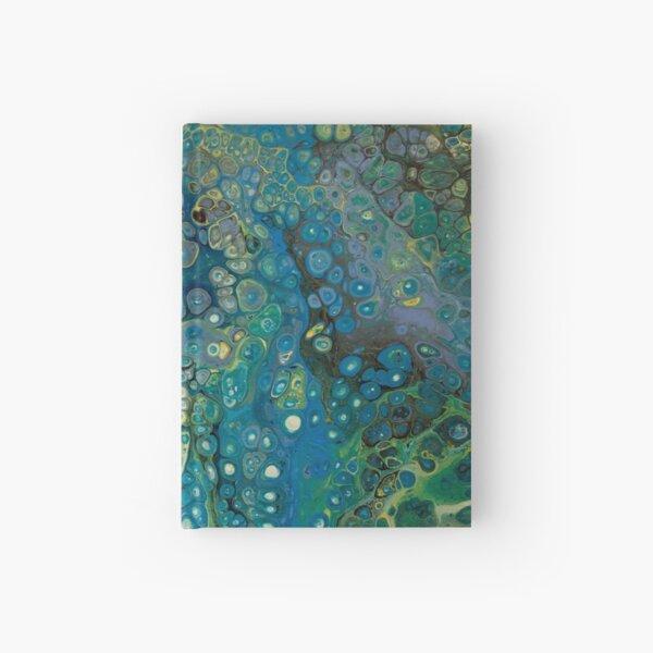 Blue/green flow Hardcover Journal