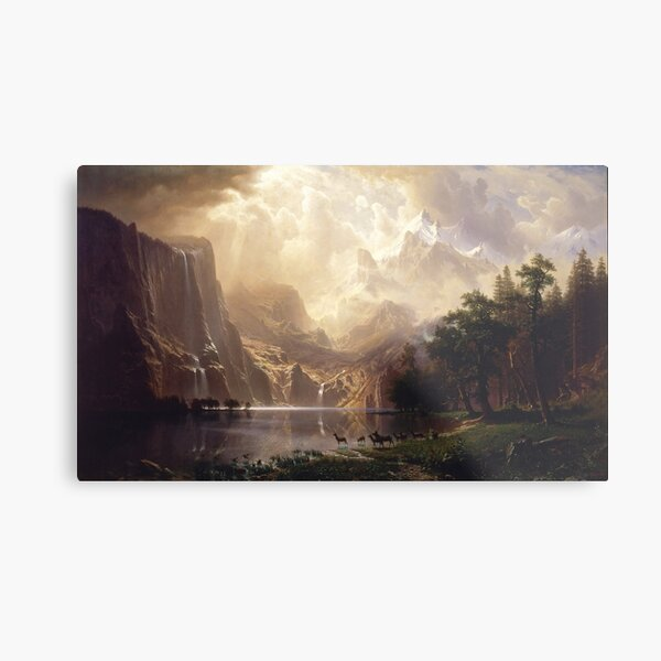 Among the Sierra Nevada Mountains, California - Albert Bierstadt Metal Print