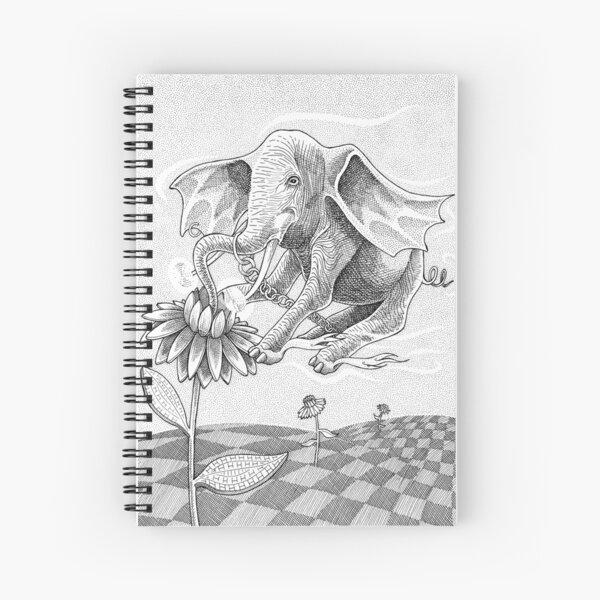 Elephant Bee Spiral Notebook