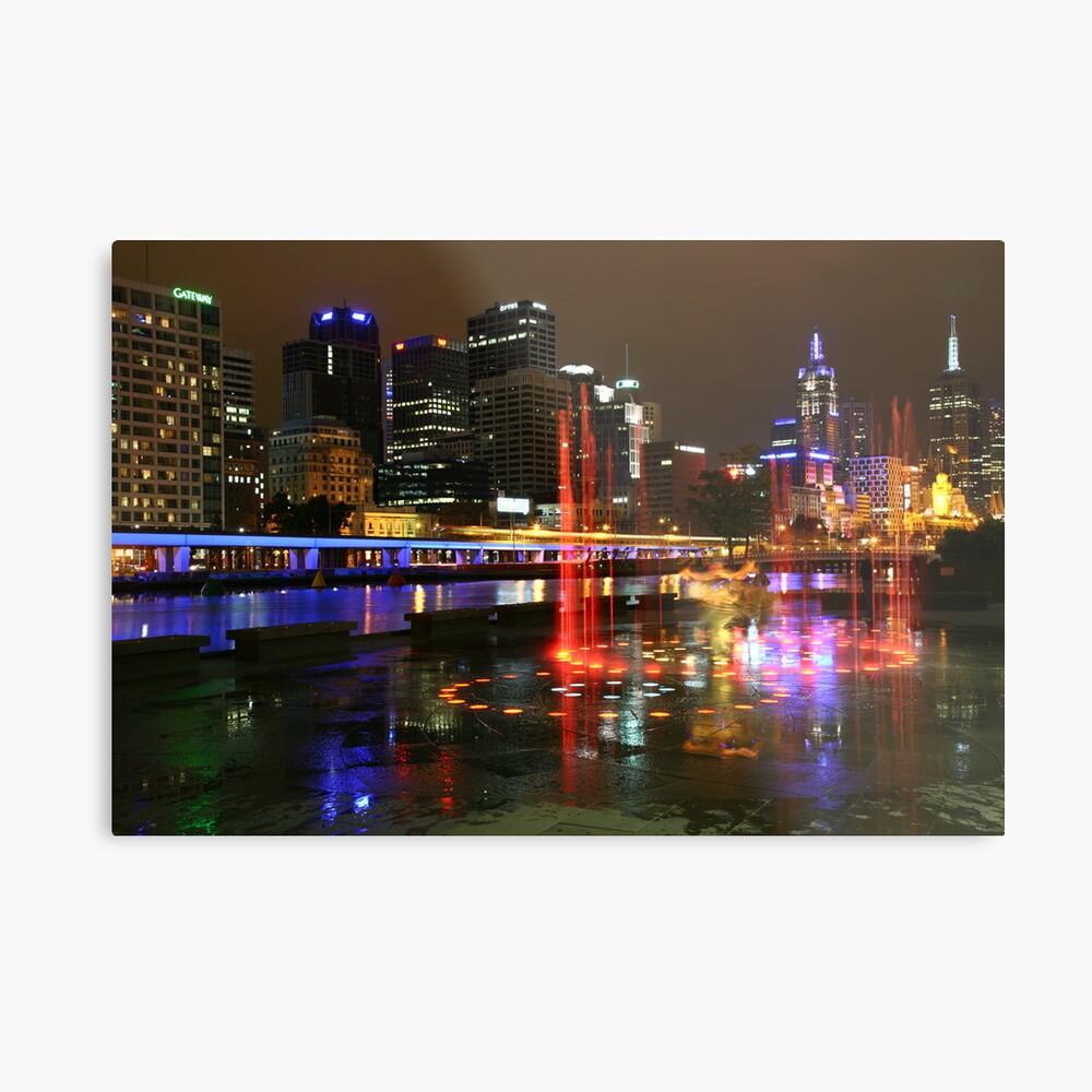 Casino Lights, Melbourne, Victoria, Australia Metal Print