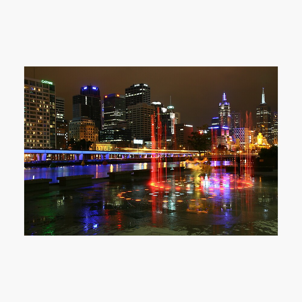 Casino Lights, Melbourne, Victoria, Australia Photographic Print