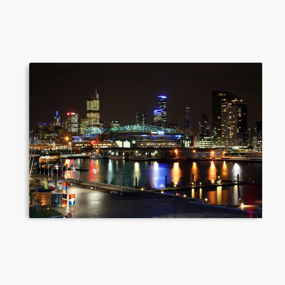 Docklands By Night, Melbourne, Australia Canvas Print