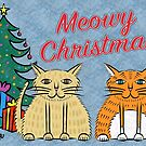 Meowy Christmas with Gifts by Judy Boyle