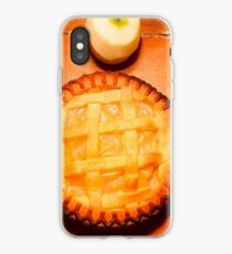 Freshly Baked Pie Surrounded By Apples On Table iPhone Case
