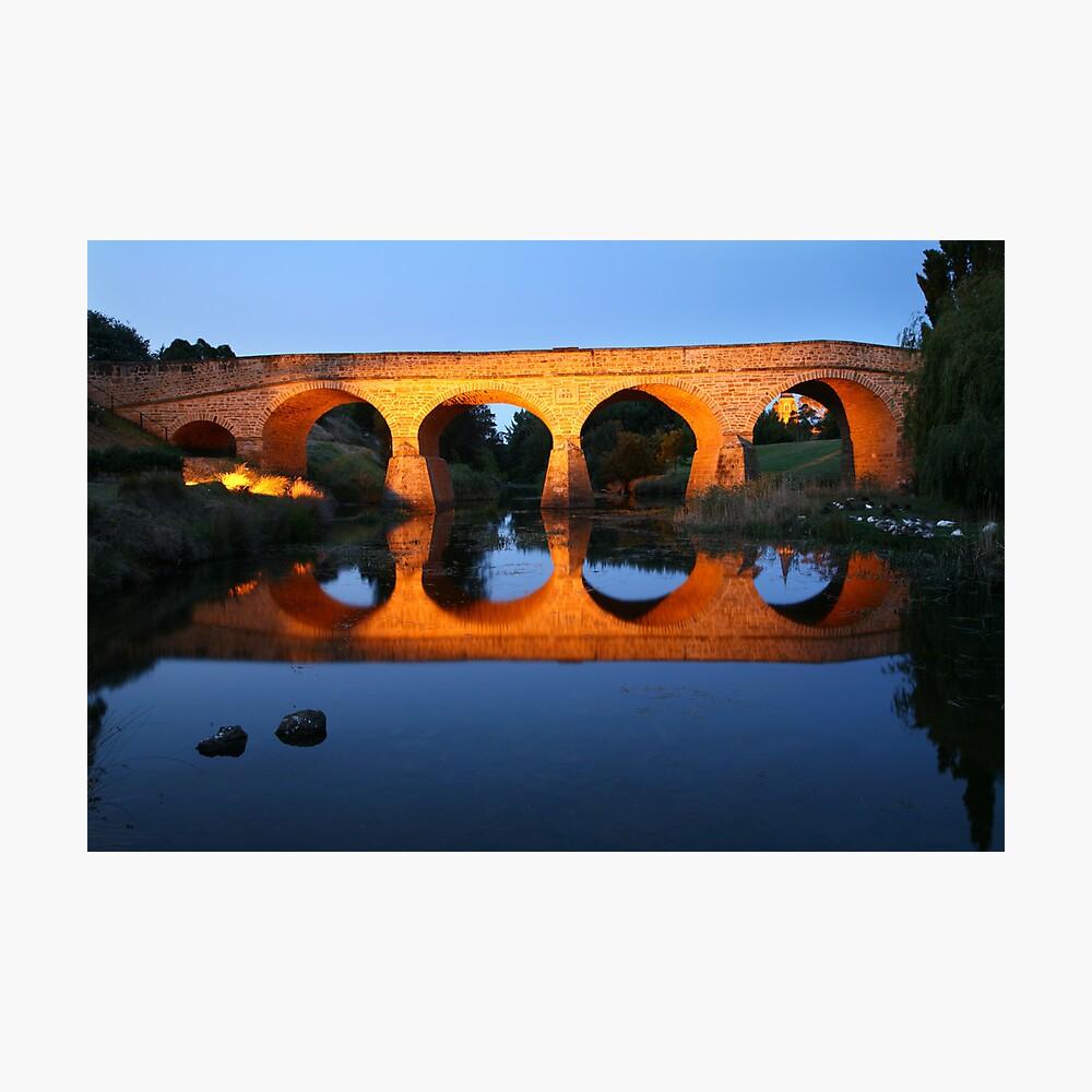 Richmond Bridge Nightime, Tasmania, Australia Photographic Print