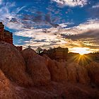Sun Rising At Bryce Canyon National Park by Len Bomba