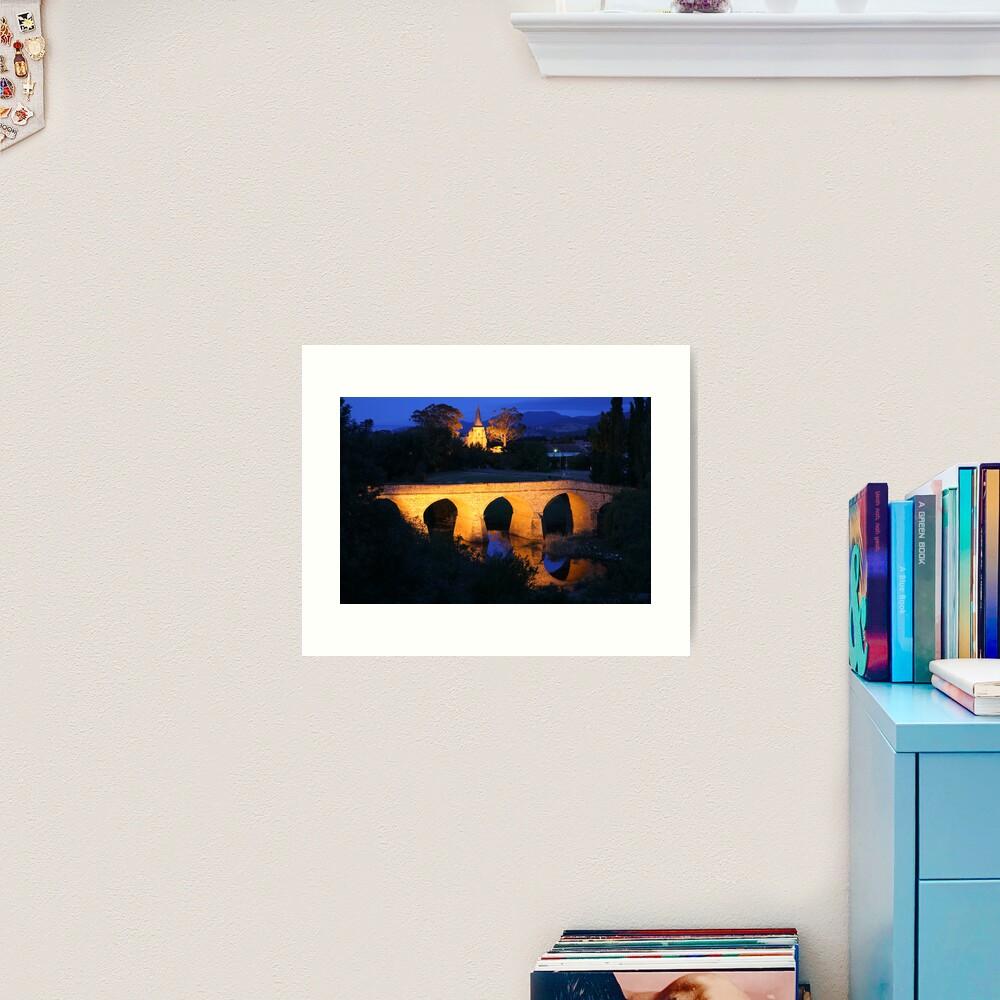 Richmond Bridge and Chruch, Tasmania, Australia Art Print