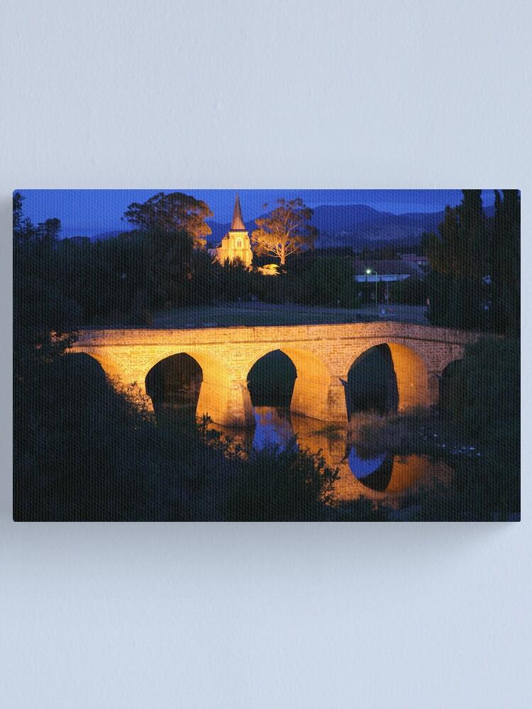 Alternate view of Richmond Bridge and Chruch, Tasmania, Australia Canvas Print