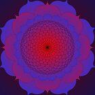 Mandala :  Brilliant Lotus by danita clark