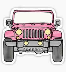 Pegatina Jeep rosa
