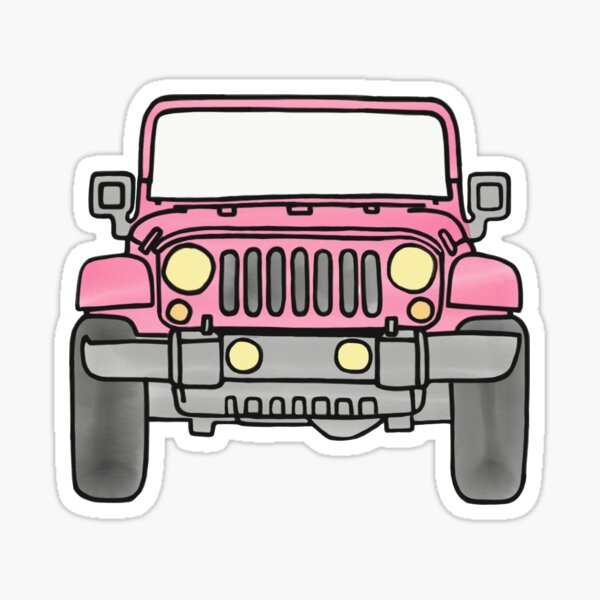 Pink Jeep Sticker
