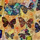 Butterflies in Spring Snowstorm by Betsy  Seeton