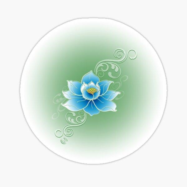 Blue Lotus Flower Sticker