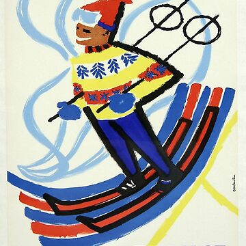 Vintage poster - Skiing in France by mosfunky