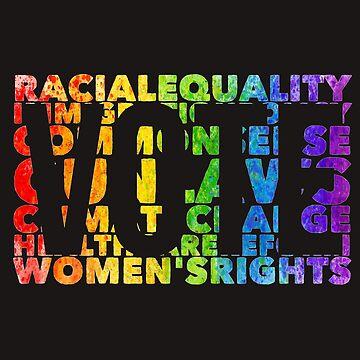 Vintage Political T Shirt LGBT Vote 2018 Democrat Gay Pride by arnaldog