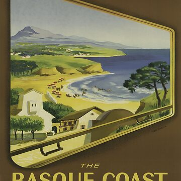 Vintage poster - Basque Coast, France by mosfunky