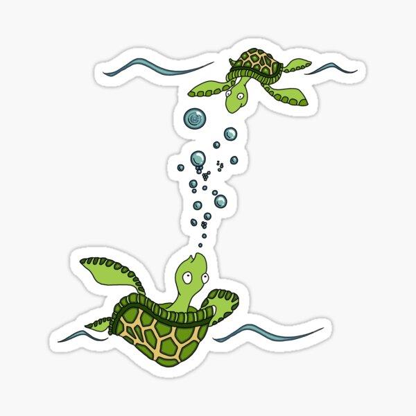 Sea Turtles at Play Sticker