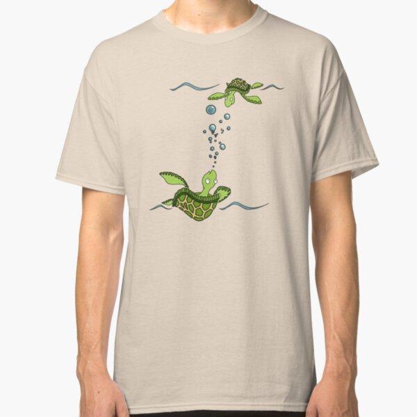 Sea Turtles at Play Classic T-Shirt