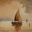 Sailing on Corio Bay by Mick Kupresanin