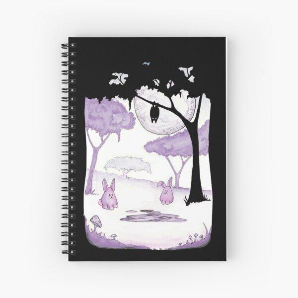 Moonlit Bunnies Spiral Notebook