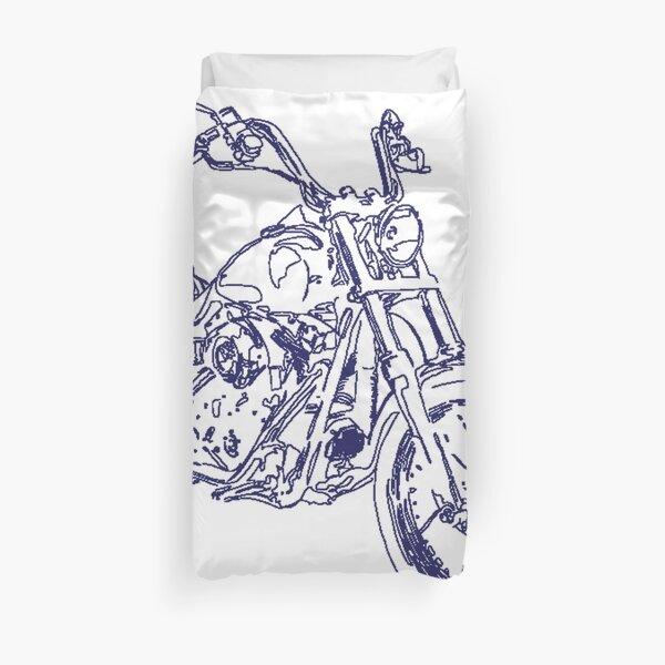 Whitelining Motorbike Duvet Cover