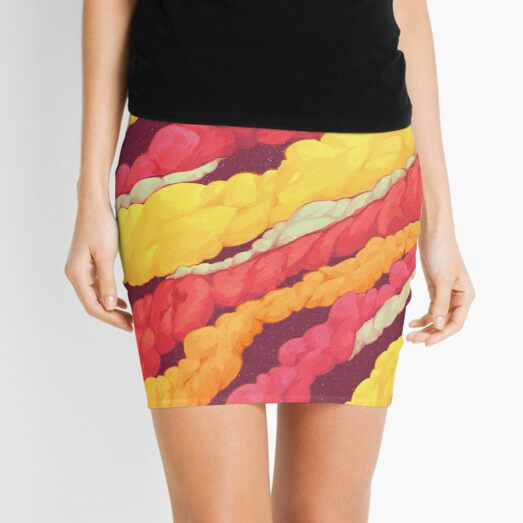Colourful Smoke Mini Skirt