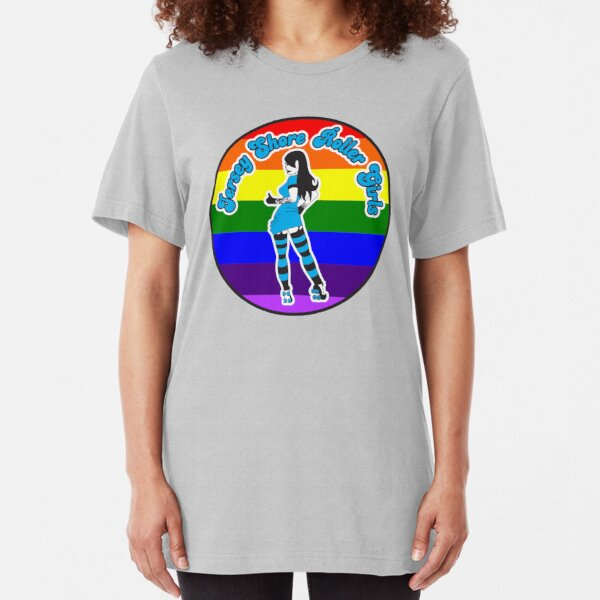 Jersey Shore Roller Girls Pride Logo Slim Fit T-Shirt