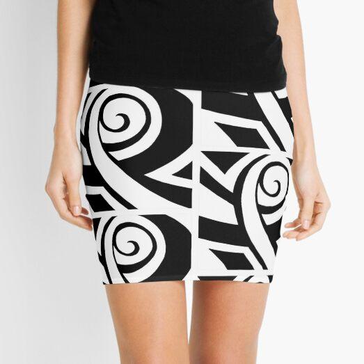 Curiously Serious Face Mini Skirt