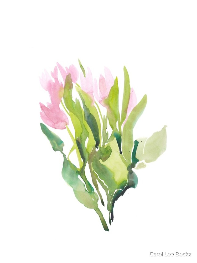 Tulips in watercolour  by Carol-Lee-Beckx