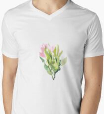 Tulips in watercolour  V-Neck T-Shirt