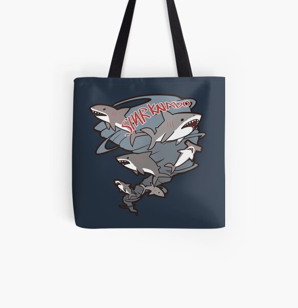 Cute Sharknado All Over Print Tote Bag