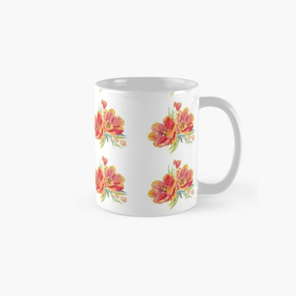 Tulips in watercolour Classic Mug