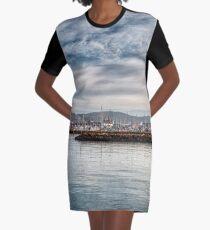 Seaview Marina Graphic T-Shirt Dress