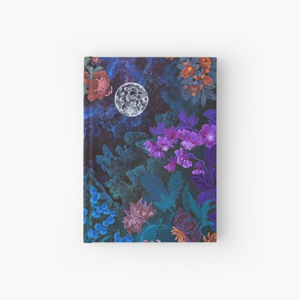 Night Space Magic Garden Hardcover Journal