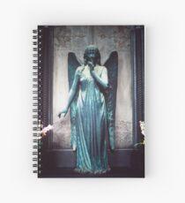 Blue Angel, Cimitero Monumentale di Staglieno, Genoa, Italy Spiral Notebook