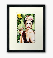 Frida Kahlo Dschungel Gerahmtes Wandbild