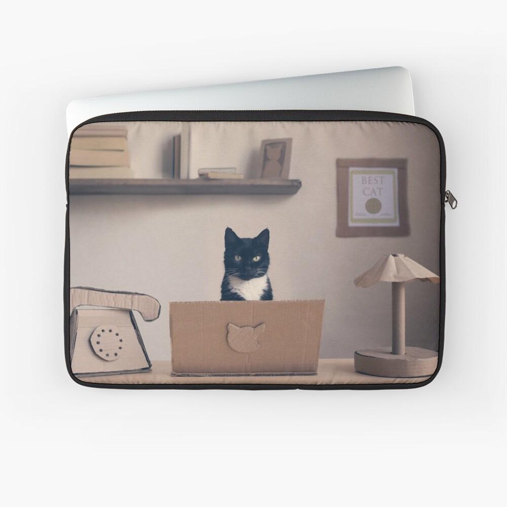 Eco Friendly Corporate Cat Laptop Sleeve